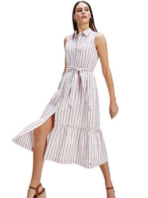 Midi prugasta haljina - Tommy Hilfiger