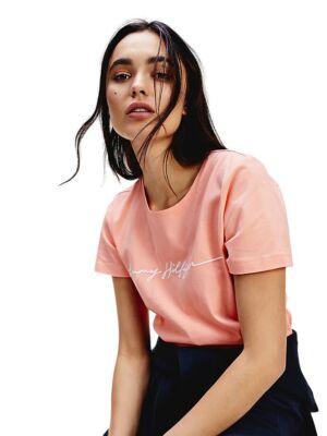 Ženska roze majica sa ispisom - Tommy Hilfiger