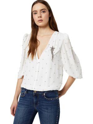 Bijela bluza sa cirkonima - Liu Jo