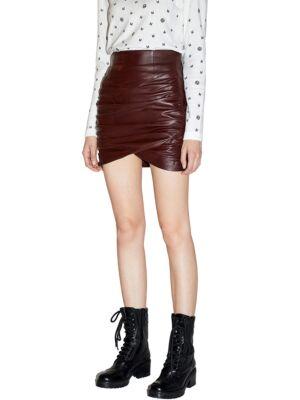 Kožna mini suknja - Miss Sixty