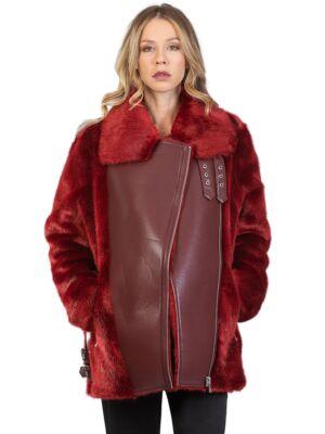 Ženska bordo jakna - Miss Sixty