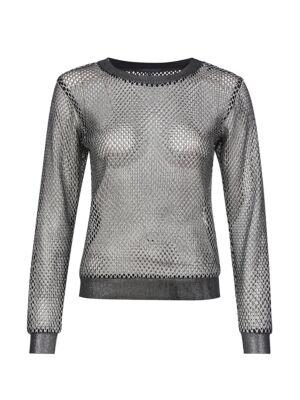 Mrežasta srebrna majica - Patrizia Pepe
