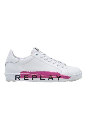 Bele ženske patike sa pink šarom - Replay