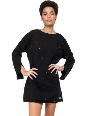 Mini crna haljina sa cirkonima - Replay