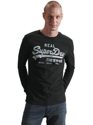 Muška crna majica sa printom - Superdry