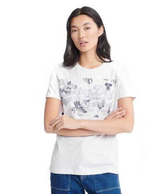 Klasična bela ženska majica - Superdry