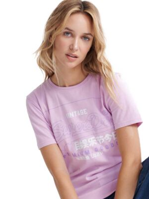 Ženska majica nežno ljubičaste boje - Superdry