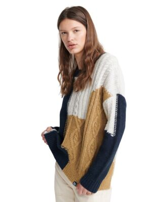 Trobojni ženski džemper - Superdry