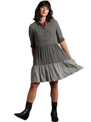 Višebojna ležerna haljina do koljena - Superdry