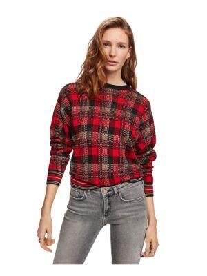 Ženski džemper kariranog dezena - Scotch&Soda