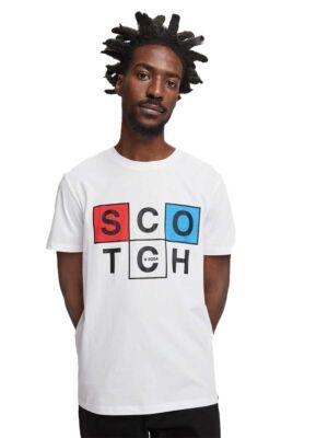 Bela muška logo majica - Scotch&Soda