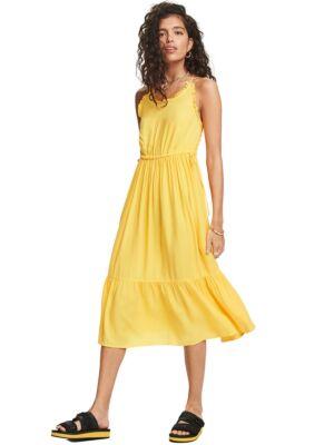 Žuta midi haljina - Scotch&Soda