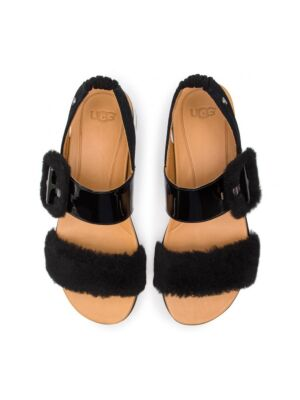 Ženske ravne sandale u crnoj boji - UGG