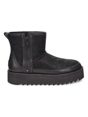 Plitke ženske čizme sa zipom - Ugg