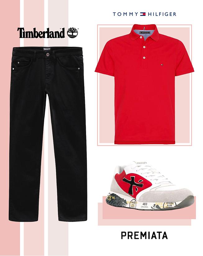 Polo majica, džins i patike