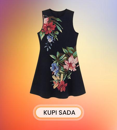 Desigual cvetna haljina